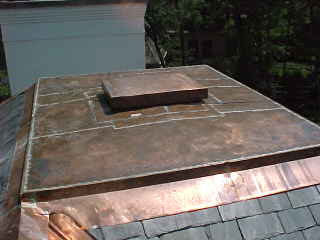 COPPER TOP CAP FOR SLATE ROOF
